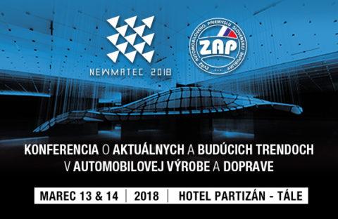 Konferencia NEWMATEC 2018 už odva mesiace na Táloch