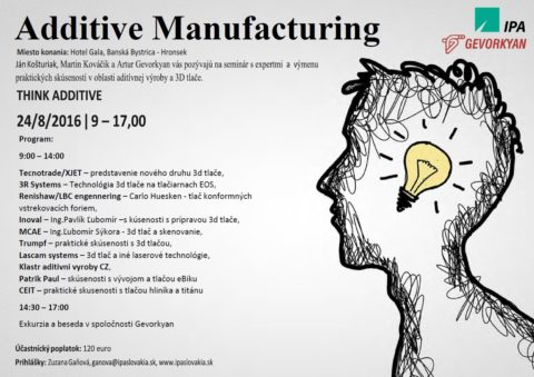Seminár 3D tlače: Think additive