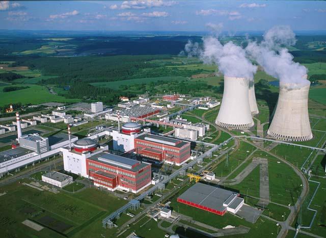 Elektráreň Mochovce letecký záber