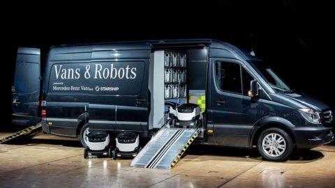 Investície Mercedes-Benz Vans do výroby doručovacích robotov