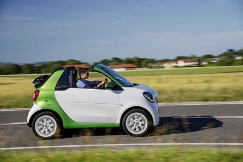 Elektromobily smart dopĺňa fortwo kabriolet electric drive