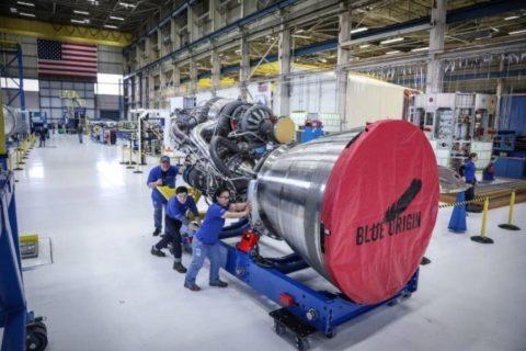 Najvýkonnejší raketový motor Blue Origin úspešne dokončil prvý hot-fire test