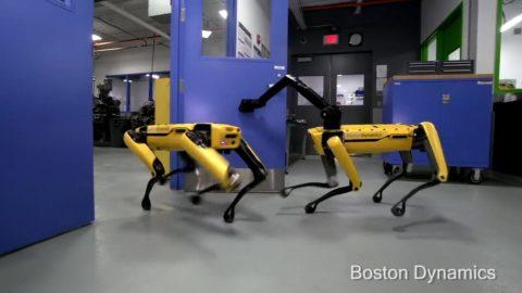 Nový robot od Boston Dynamics si dokáže sám otvoriť dvere