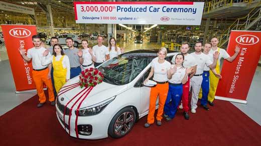 Kia Motors Slovakia vyrobila 3 miliónty automobil