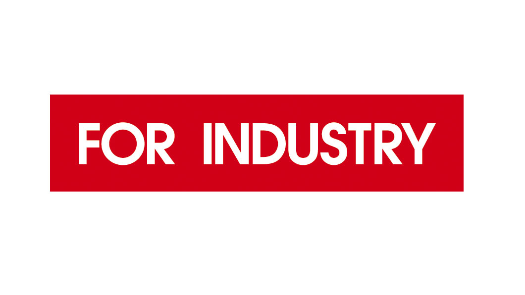 For industry logo červené