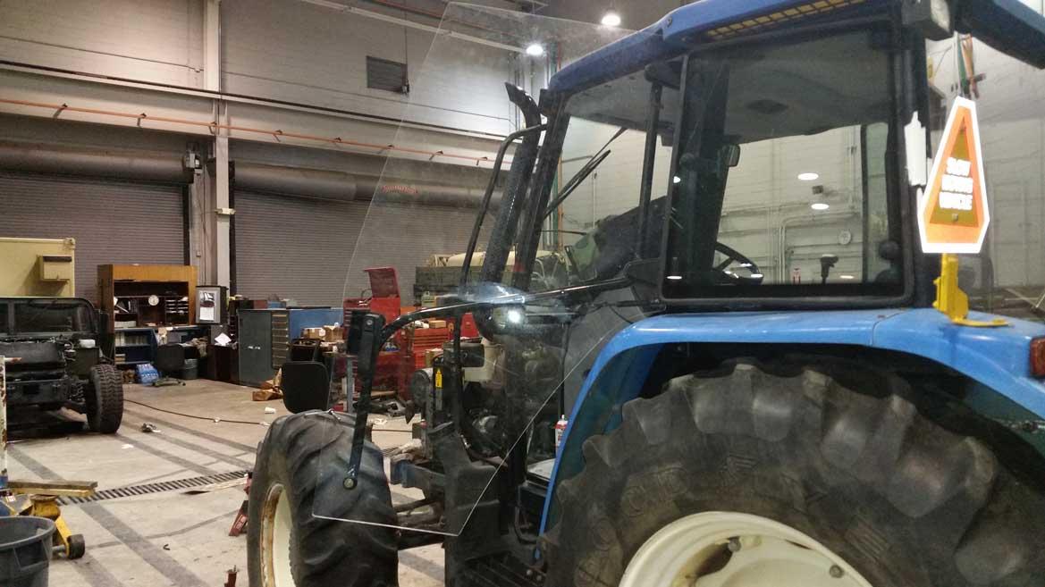 Traktorové sklo