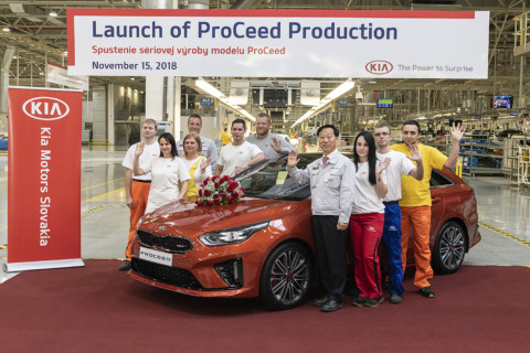 Revolučná zmena v modely Ceed, Kia Proceed už spustila svoju výrobu v Kia Motors.