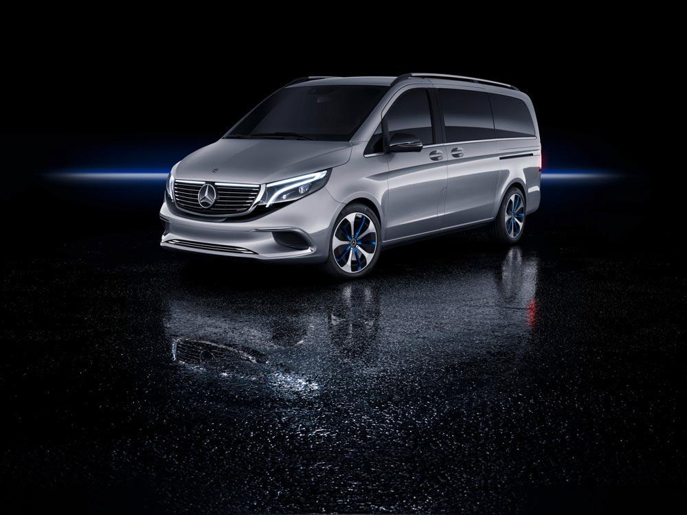 Mercedes-Benz koncept EQV - exteriér