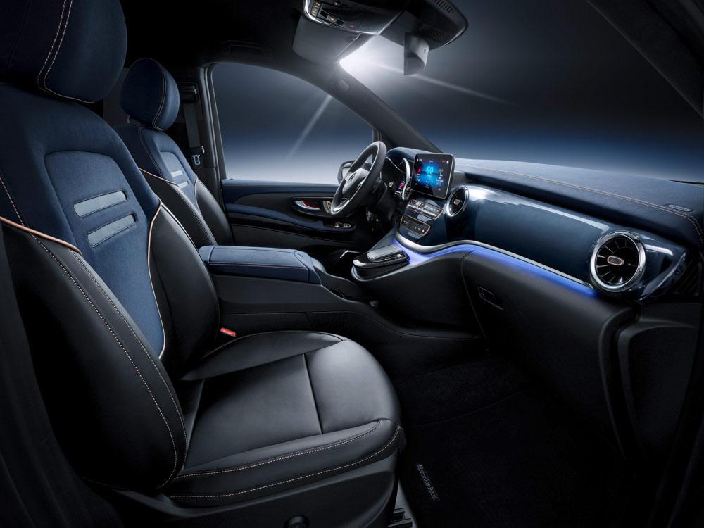 Mercedes-Benz koncept EQV - interiér