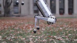 Pohyby Mini Cheetah robota