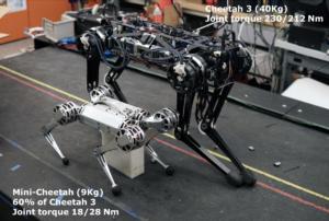 Mini Cheetah robot vs. Cheetah 3