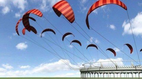 Využitie padákov a dronov ako nový zdroj energie