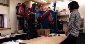 robot vo výskumnom centre