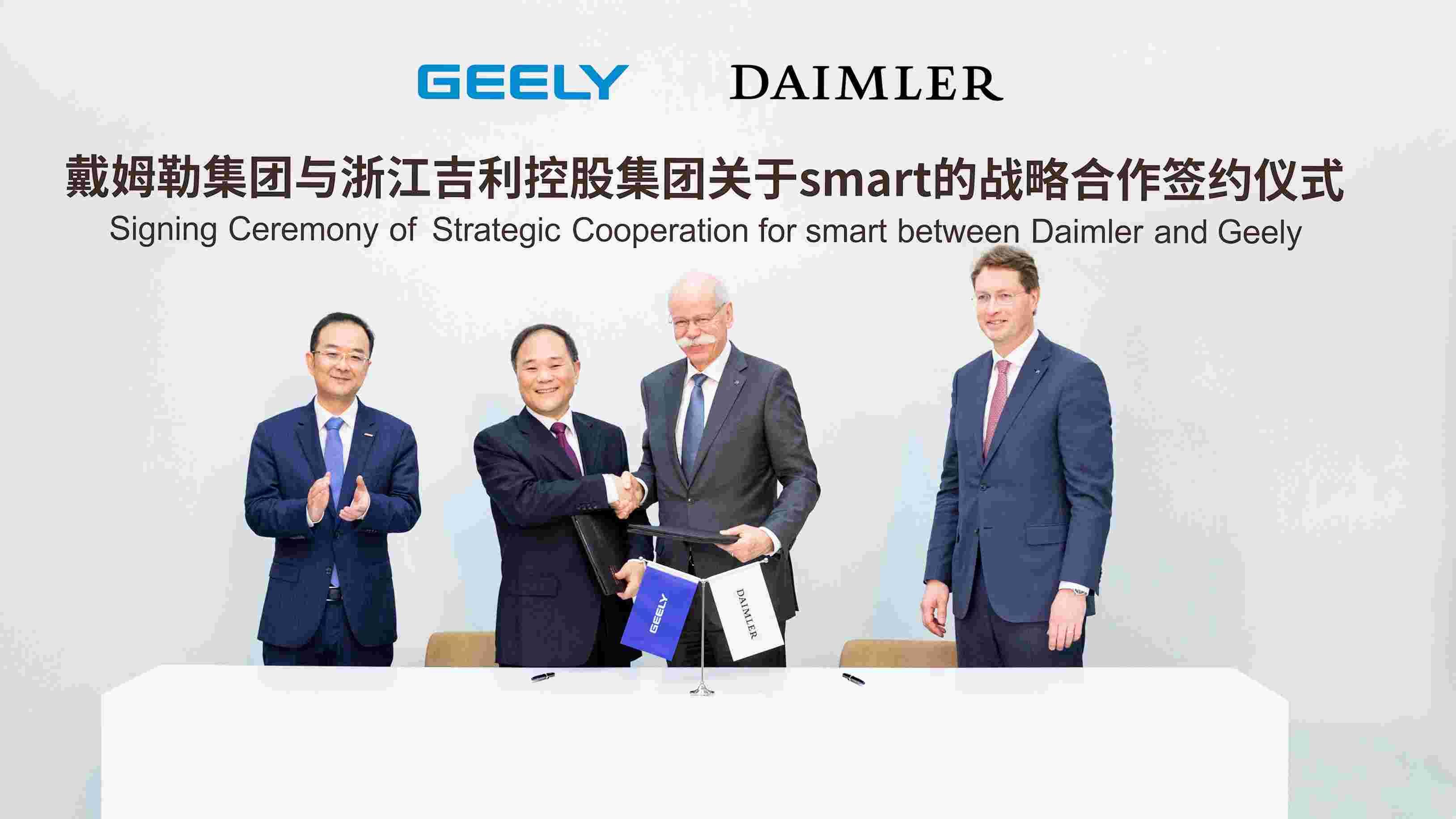 Daimler a Geely Holding