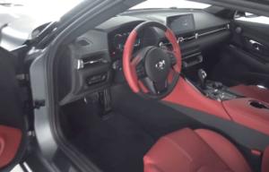 Interiér Toyta Supra GT 2019