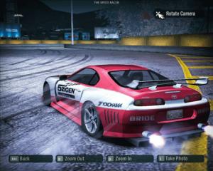 Toyota Supra v Need for Speed v drifte